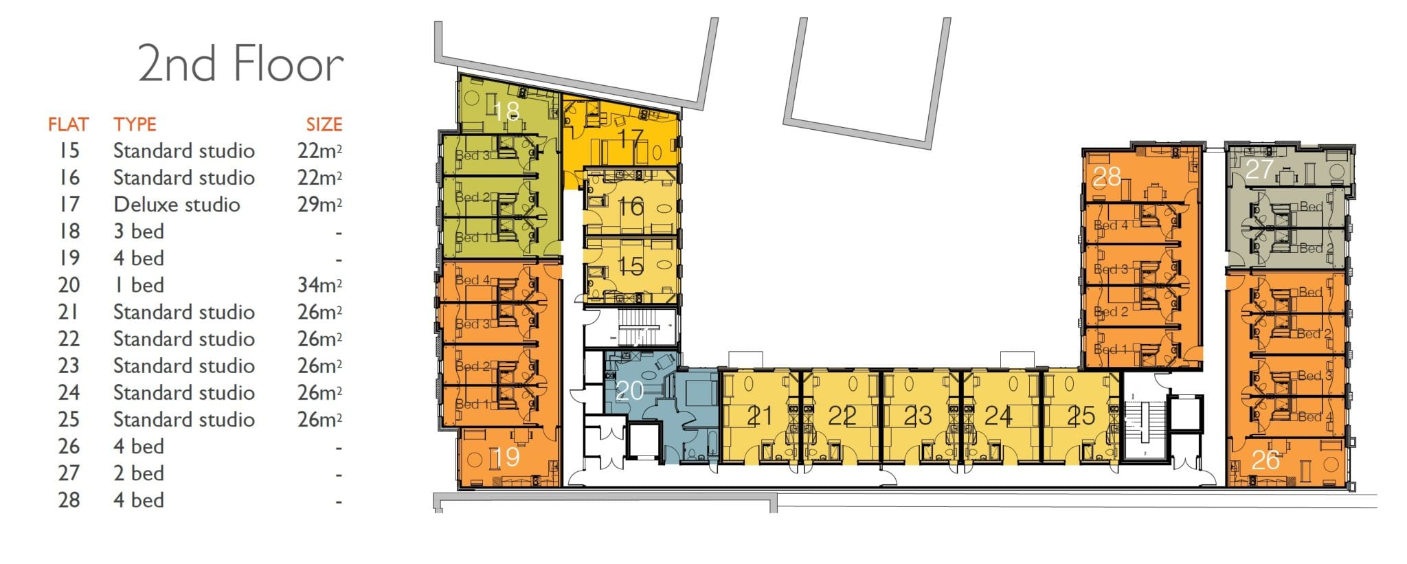 100 Student Accommodation Floor Plans Chapter South