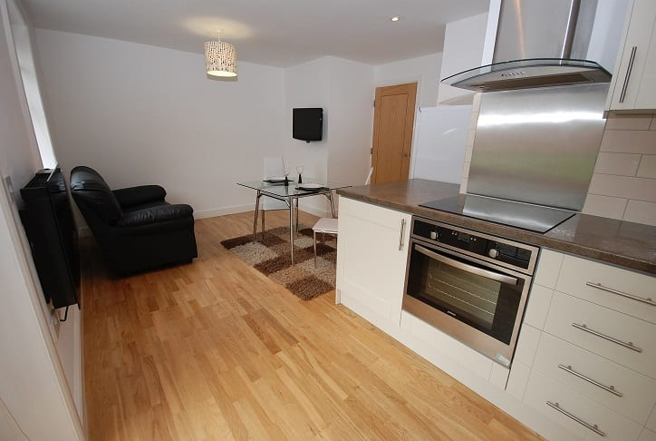 1 BED KITCHEN AND LIVING AREA