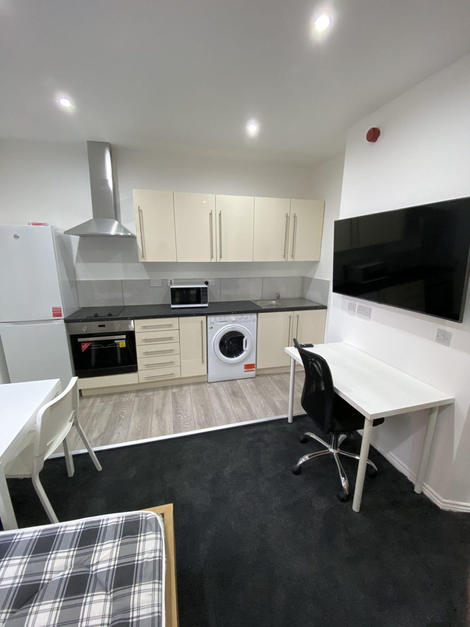 studio flat living area