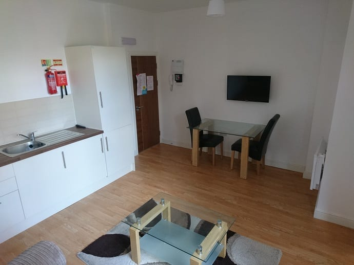 FLAT 3 KITCHEN AND DINING AREA