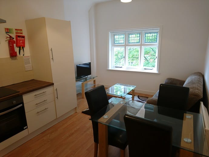 FLAT 8 KITCHEN AND LIVING AREA